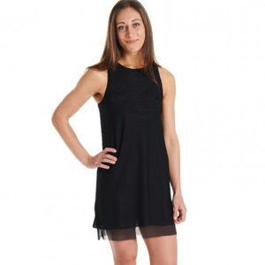Oiselle Rabbit Tank Dress Black Activewear 12